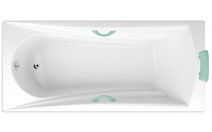 TEIKO ETNA vana 180x80x45cm, obdélník, akrylát, bílá