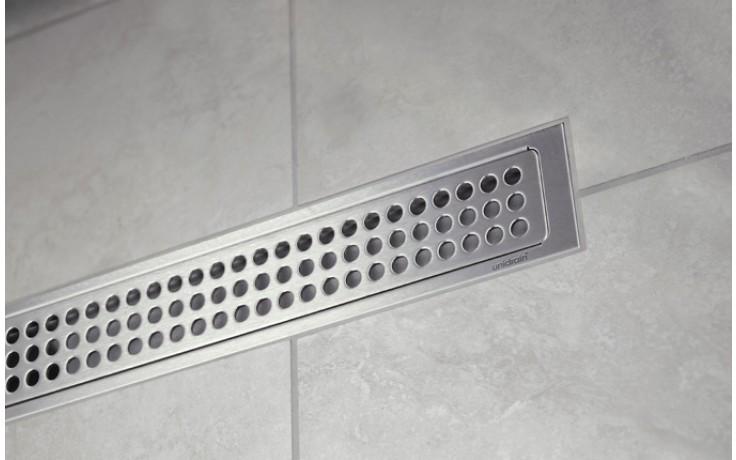 Žlab podlahový Unidrain - Odtokový žlab prostorový délka 700mm nerez