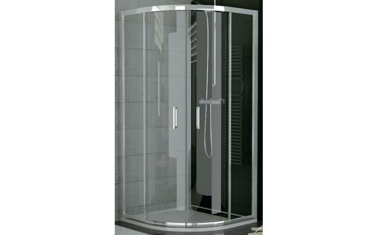 SANSWISS TOP LINE TOPR sprchové dveře 800x1900mm čtvrtkruhové, s dvoudílnými posuvnými dveřmi, bílá/čiré sklo