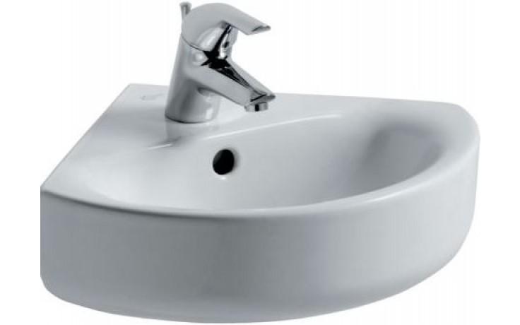Umývátko rohové Ideal Standard s otvorem Connect Arc 48x44 cm bílá