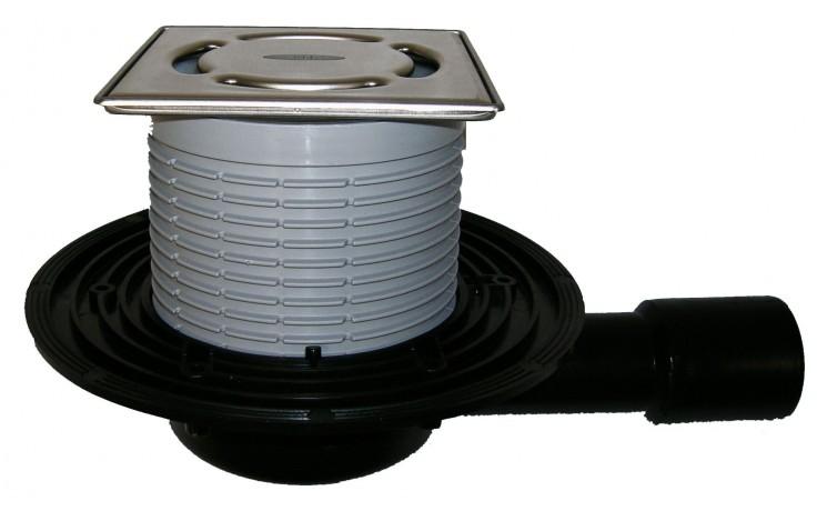 Vpust podlahová HL plastová HL 90Pr-3000 s rámečkem KLICK KLACK DN 40/50