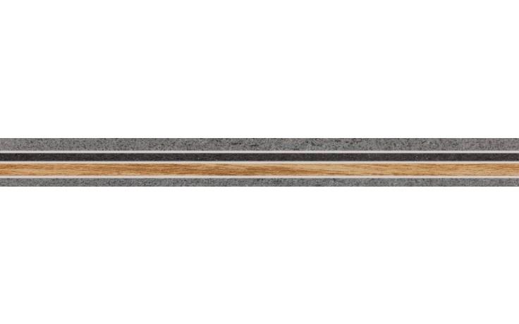 RAKO LIGHT listela 60x5,6cm šedo-hnědá DDPSZ001