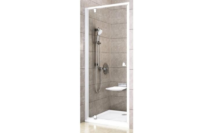 RAVAK PIVOT PDOP1-80 sprchové dveře 761-811x1900mm jednodílné, otočné, bright alu/transparent 03G40C00Z1