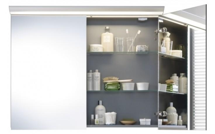 Nábytek zrcadlová skříňka Duravit Darling New 80x100x27cm bílá matná