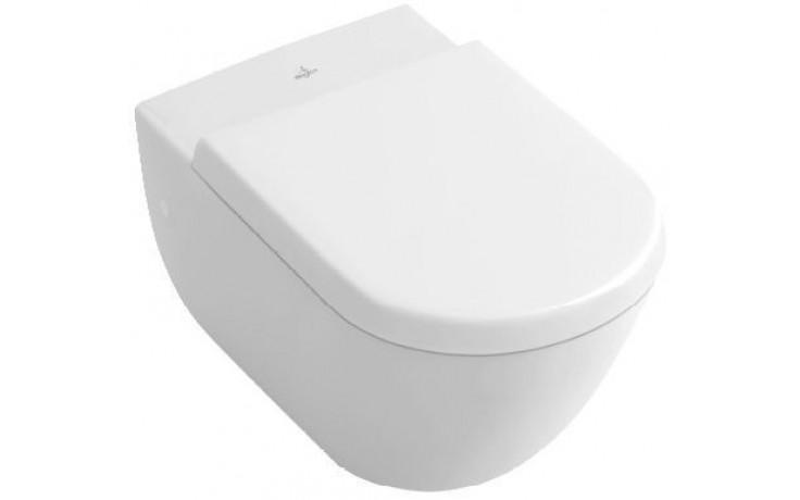 CONCEPT VILLEROY & BOCH VERITY DESIGN závěsný klozet 355x480mm kompakt, s hlubokým splachováním, vodorovný odpad bílá Alpin Ceramicplus