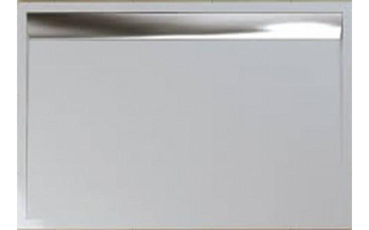 SANSWISS ILA WIA sprchová vanička 900x1400mm, obdélníková, včetně sifonu, litý mramor, aluchrom/bílá