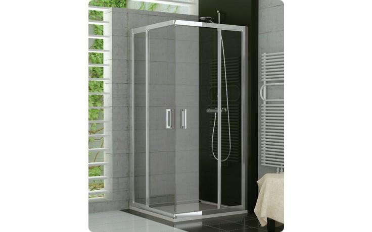 Zástěna sprchová dveře Ronal TOP-Line TED2 D 0900 01 07 900x1900 mm matný elox/čiré AQ