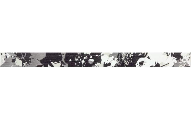 RAKO TENDENCE listela 60x4,5cm černo-bílá WLASZ005