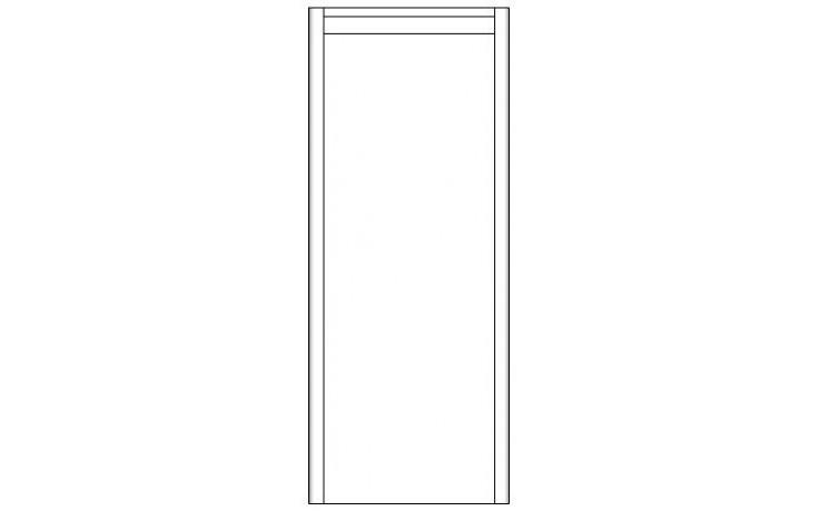 CONCEPT 600 skříňka doplňková 35x35x87cm závěsná, levá, hnědá