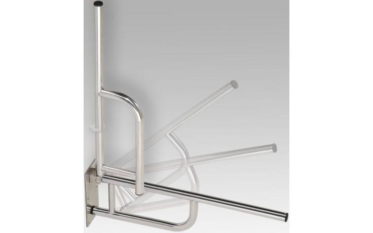 AZP BRNO REHA sklopný úchyt 760x100x250mm, lakovaná ocel, bílá