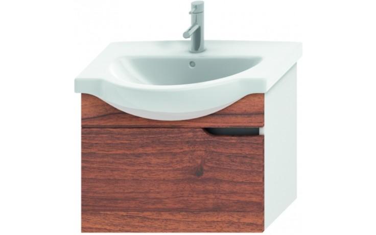 JIKA MIO umyvadlová skříňka pro nábytkové umyvadlo 630x340x505mm 1 zásuvka, bílá/ořech 4.3412.1.171.506.1