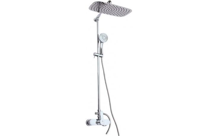 EASY sprchový set vanová baterie, hlavová sprcha 40x23,5cm, 5polohová ruční sprcha, chrom