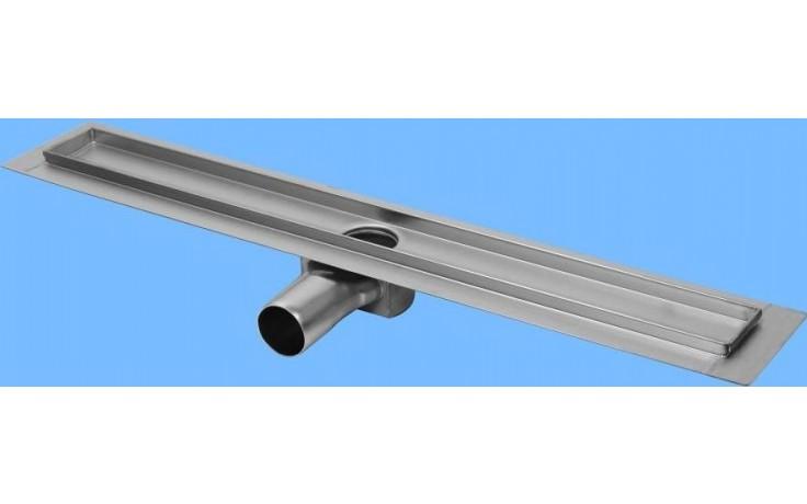 CONCEPT 50 podlahový žlab 985mm, s horizontální přírubou, nerez ocel