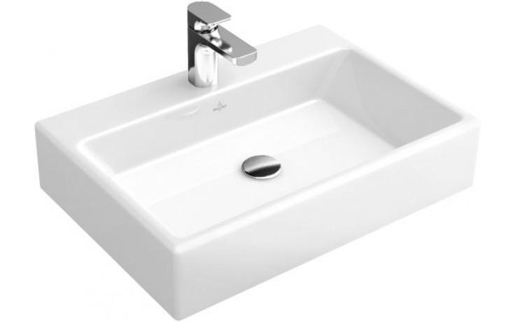 Umyvadlo nábytkové Villeroy & Boch bez otvoru Memento 500x420mm Bílá Alpin