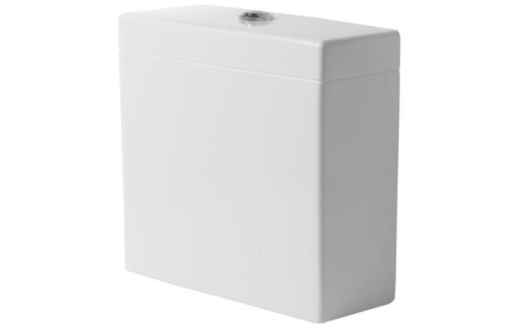 DURAVIT VERO splachovací nádrž 380x160mm s Dual-Flush, bílá/chrom 0909000005