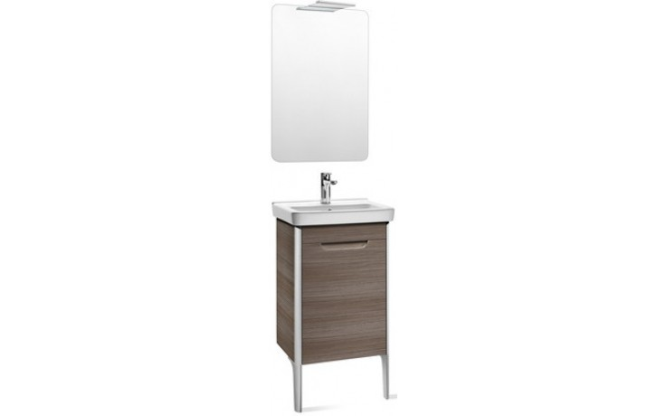 ROCA PACK DAMA nábytková sestava 550x320x645mm skříňka s umyvadlem a zrcadlem s osvětlením bílá 7855816576
