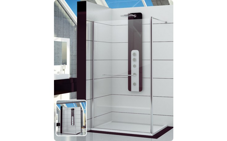 Zástěna sprchová boční Ronal FUN FUN2 1400 50 07 1400x2000mm aluchrom/čiré AQ