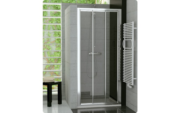 SANSWISS TOP LINE TOPS3 sprchové dveře 1000x1900mm, třídílné posuvné, aluchrom/čiré sklo Aquaperle