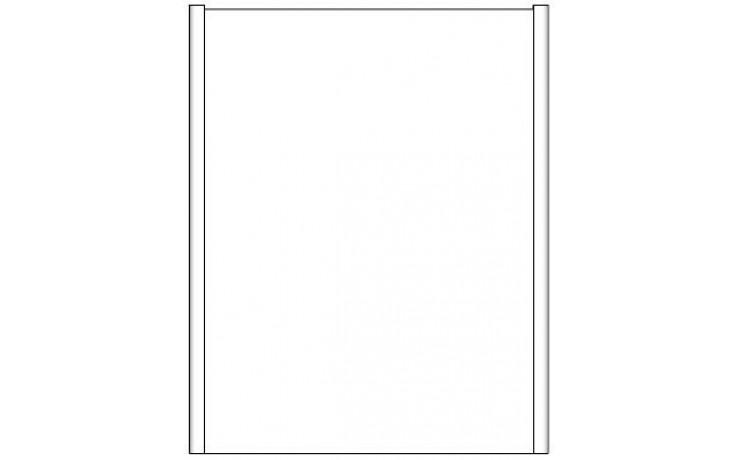 CONCEPT 600 zrcadlová skříňka 60x15x75cm, hnědá