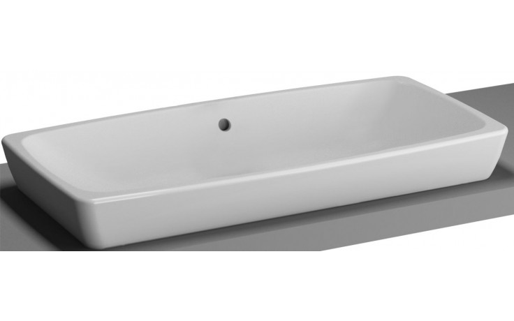 Mísa umyvadlová Vitra bez otvoru Metropole s přepadem 79,5x40 cm bílá