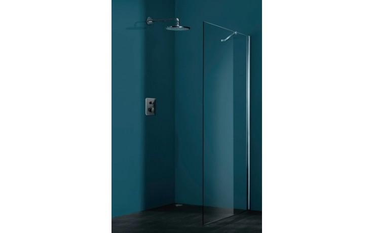 Zástěna sprchová boční Huppe sklo Refresh pure Akce 900x2043 mm stříbrná matná/čiré AP
