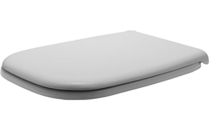Sedátko WC Duravit duraplastové s kov. panty D-Code nerezové panty bílá