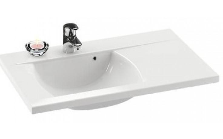 Umyvadlo nábytkové Ravak s otvorem CLASSIC L 80x49 cm bílá