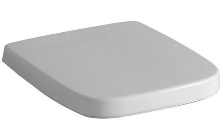 Sedátko WC Keramag duraplastové s kov. panty Renova Nr.1 Plan s automatickým pozvolným sklápěním  bílá