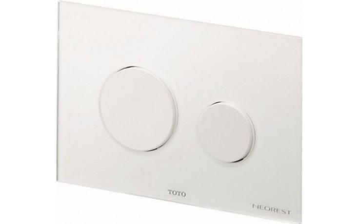 TOTO NEOREST/SE ovládací tlačítko 220x150mm sklo/bílá