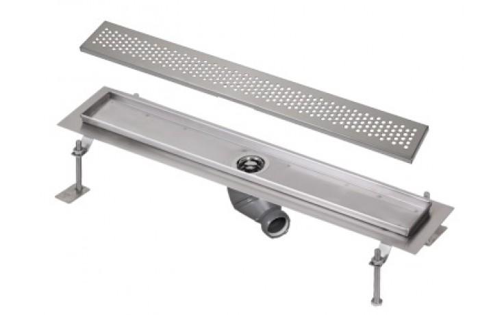 SANELA SLKN07B koupelnový žlábek 950mm ke stěně, nerez lesk