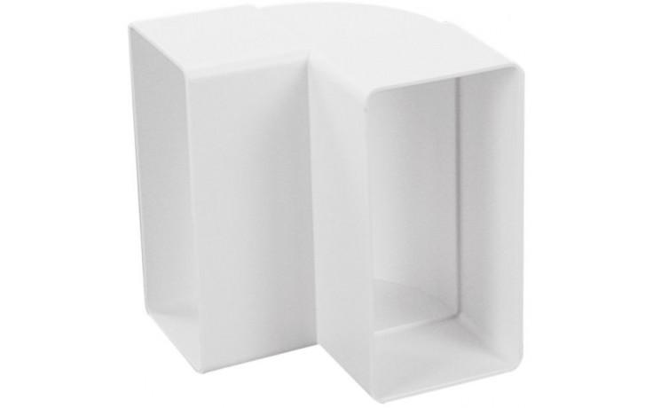 HACO CKP 2x110x55 ventilační systém 110x55mm, koleno svislé, bílá