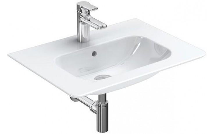 Umyvadlo nábytkové Ideal Standard s otvorem SoftMood 64x46x17 cm bílá