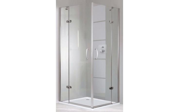 Zástěna sprchová dveře Huppe sklo Aura elegance 900x1900mm stříbrná matná/čiré AP