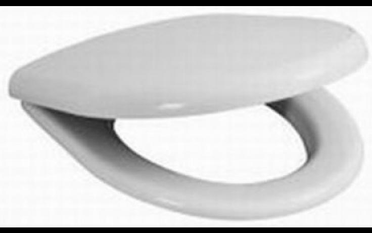JIKA ZETA klozetové sedátko s poklopem, duroplastové, s plastovými úchyty, bílá