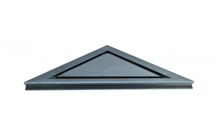 Příslušenství ke žlabům Unidrain - Panel - HighLine rohový pro instalaci bez rámečku 200mm kartáčovaná nerez