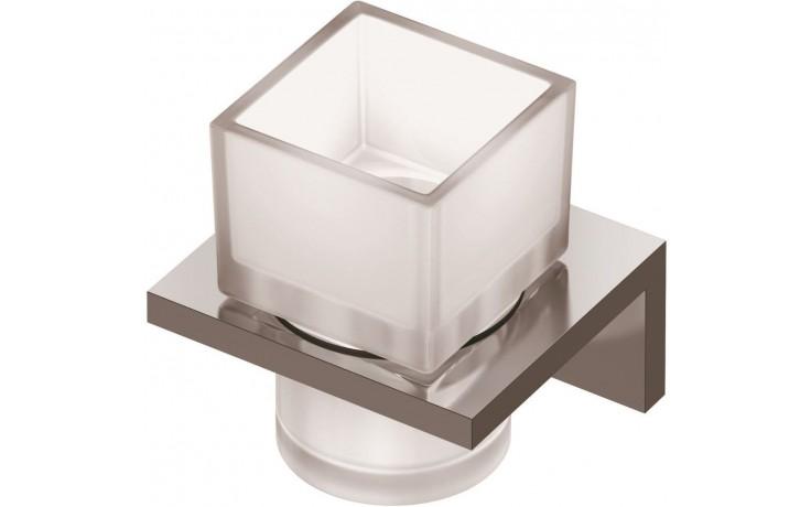 Doplněk držák se skleničkou Ideal Standard Strada na zubní kartáček 99x109x100mm chrom