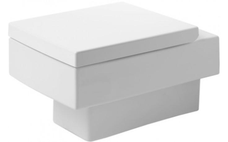 DURAVIT VERO závěsný klozet 370x540mm hluboké splachování, bílá/wonder gliss 22170900641