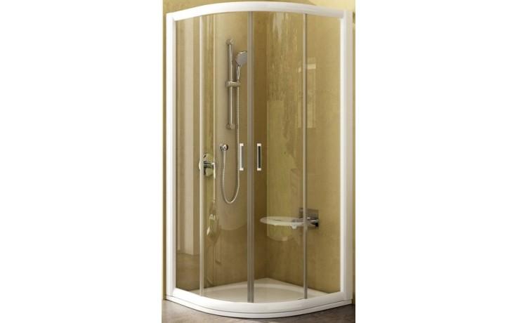 Zástěna sprchová čtvrtkruh Ravak sklo NRKCP4 800x1900 bílá/transparent