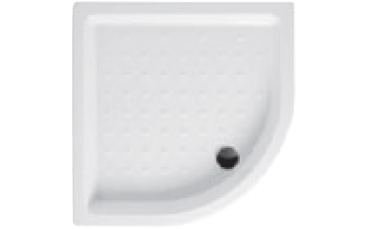 JIKA RAVENNA keramická sprchová vanička 900x900x110mm čtvrtkruhová, R550mm, bílá