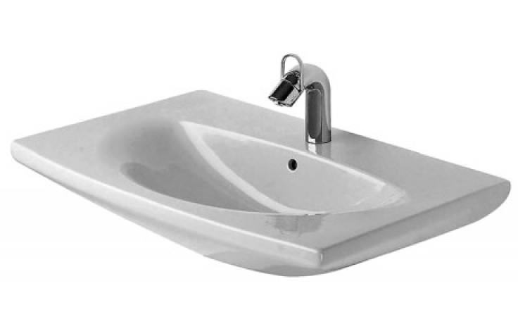 DURAVIT CARO klasické umyvadlo 900x595mm hranaté, s přetokem, bílá/wonder gliss 04349000001