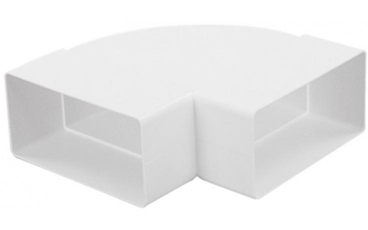 HACO CKH 2x110x55 ventilační systém 110x55mm, koleno vodorovné, ploché, bílá