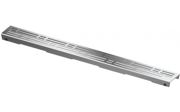 CONCEPT 200 BASIC rošt 800mm rovný, pro osazení do těla žlabu, nerezová ocel