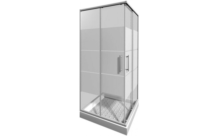 Zástěna sprchová čtverec Jika sklo Lyra plus 80x190 cm arctic