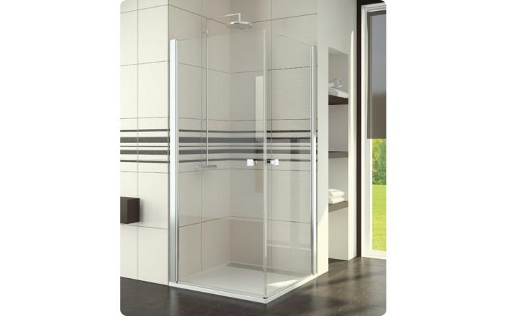 Zástěna sprchová dveře Ronal sklo SWING-line 900x1950 mm aluchrom/čiré AQ