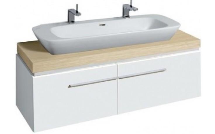 KERAMAG SILK skříňka pod umyvadlo 140x40cm s umyvadlovou deskou, bílá lesklá 816042000