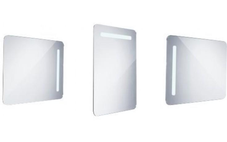 Nábytek zrcadlo Nimco s LED osvětlením 60x80 cm chrom