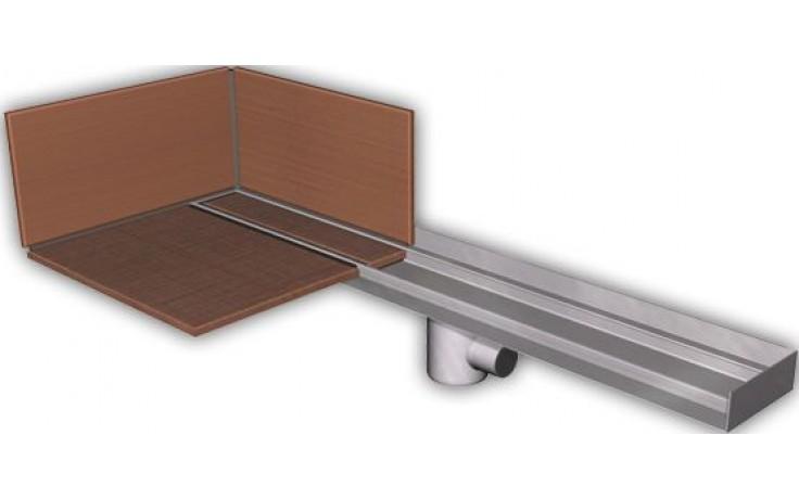 AZP BRNO PZ 014LP.800 podlahový žlab 800mm, pro vložení kachliček, nerez ocel
