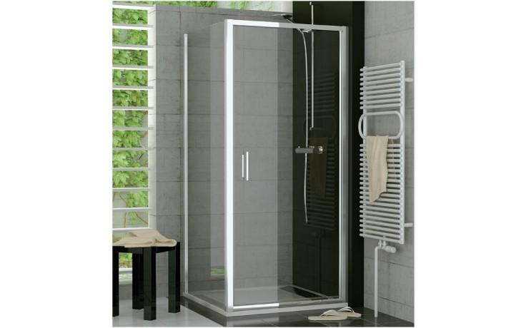 SANSWISS TOP LINE TOPP sprchové dveře 900x1900mm, jednokřídlé, aluchrom/čiré sklo Aquaperle