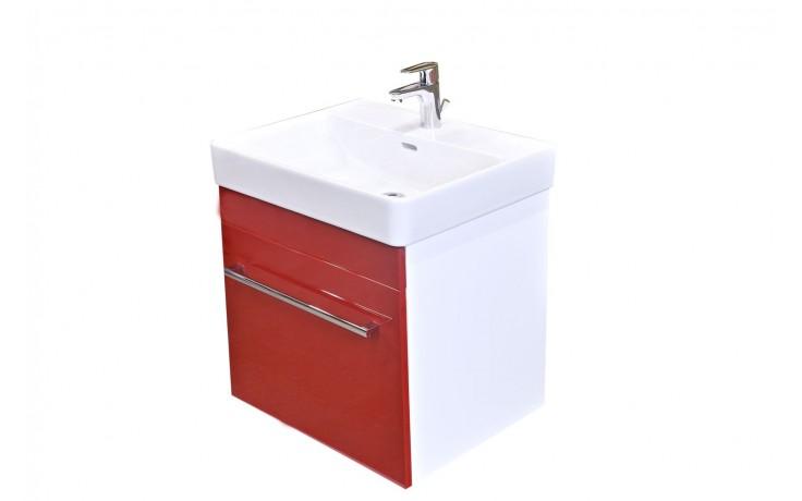 Nábytek skříňka s umyvadlem Eden Rubín 56x54x44,5 cm bílá