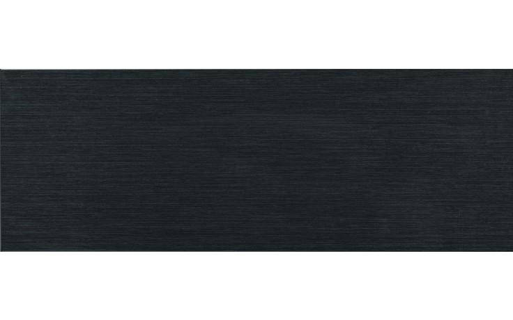 Obklad Keraben Thai Negro 25x70 cm černá